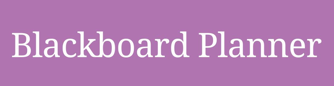 Blackboard Planner logo